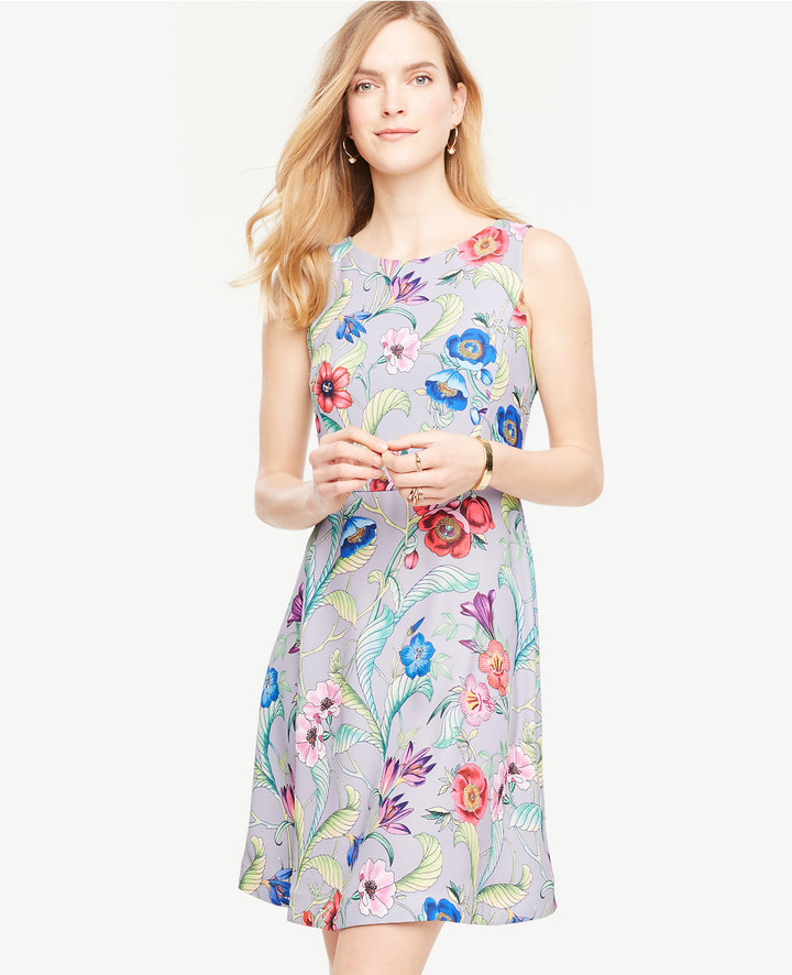 ann taylor_Jungle Floral Flare Dress