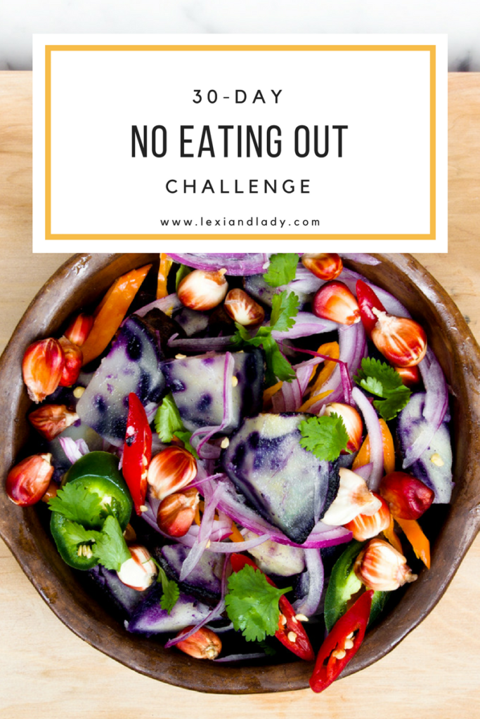 30-day no eating out challenge