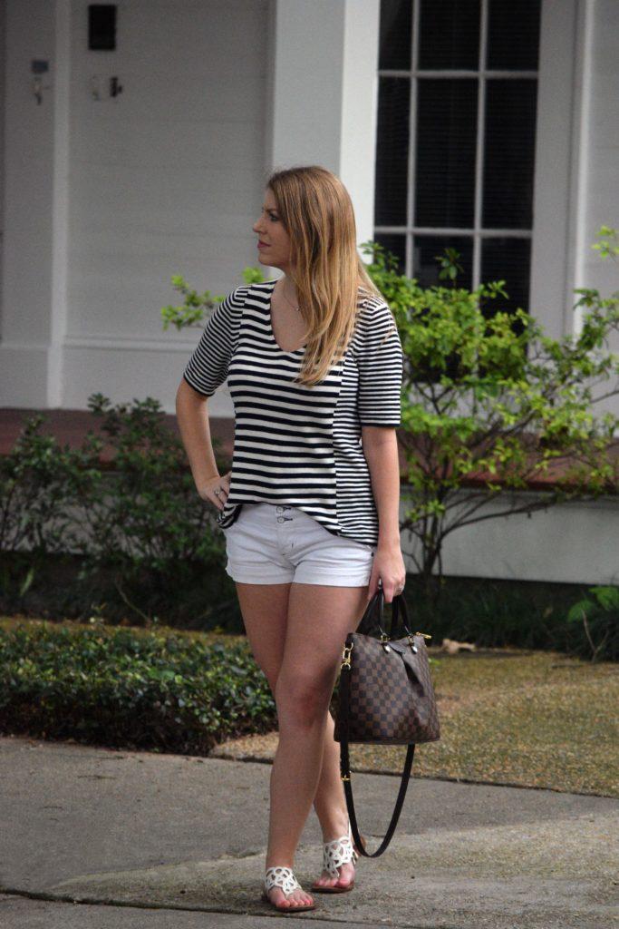 mixed stripe v-neck sweater3