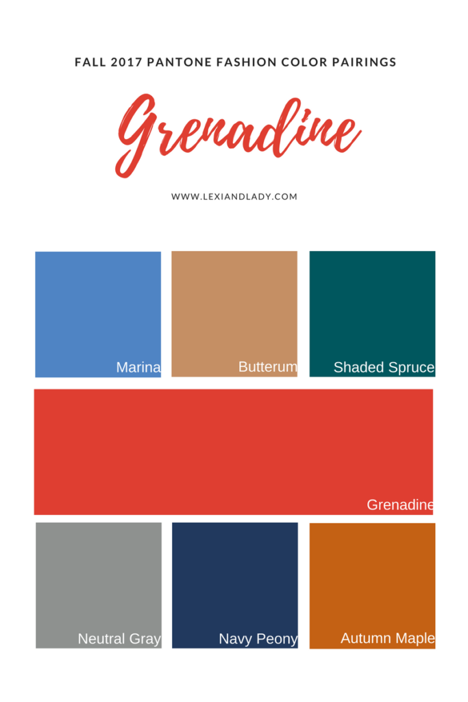 Grenadine Color Pairings