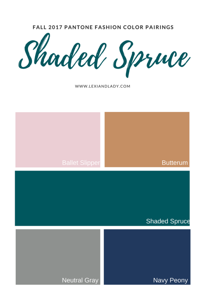 Shaded Spruce Color Pairings