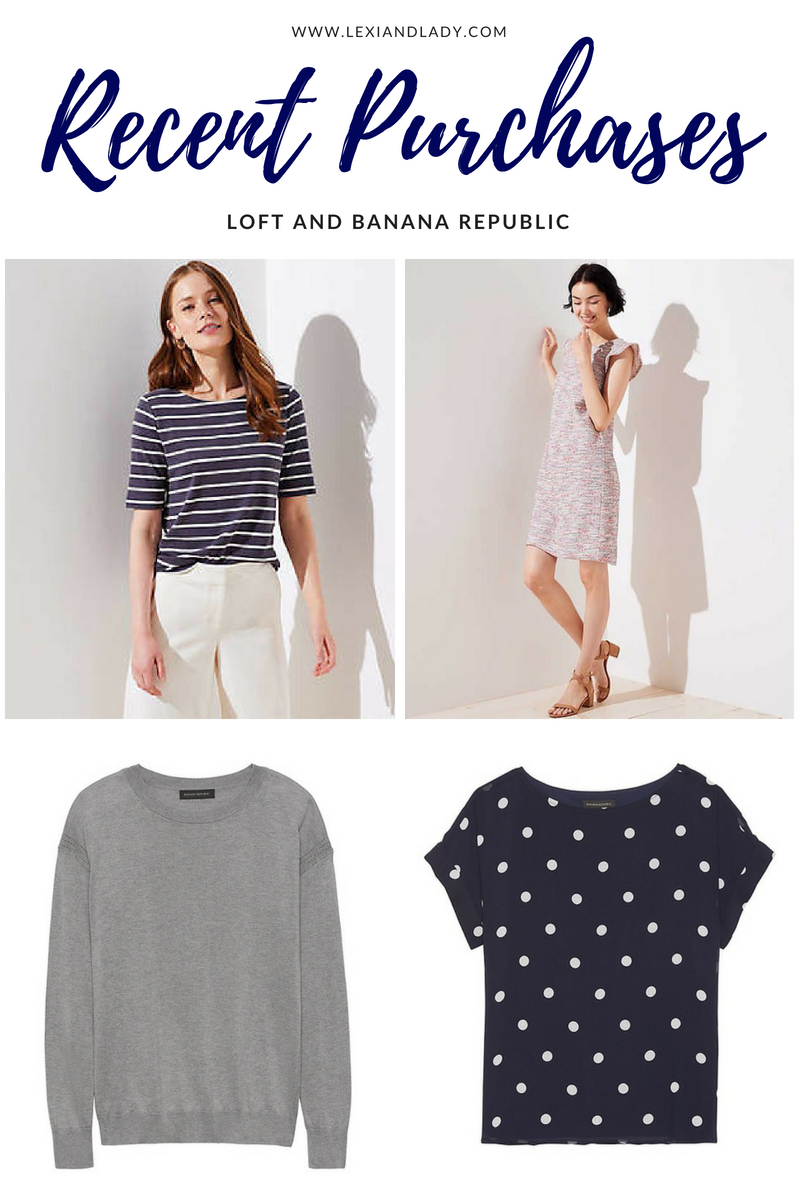 Recent Purchases_ LOFT and Banana Republic