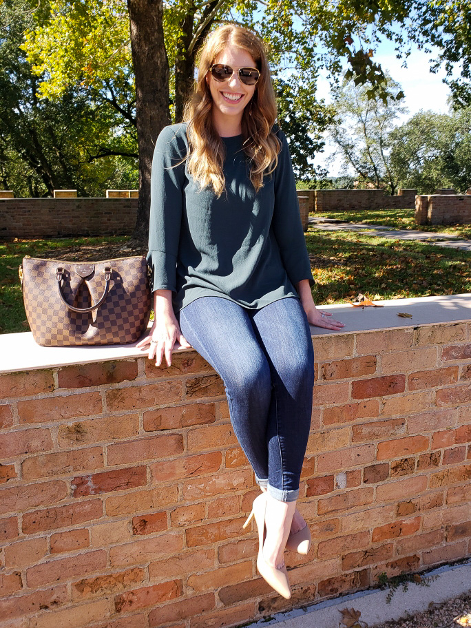 Green Bell Sleeve Top | Lexi & Lady