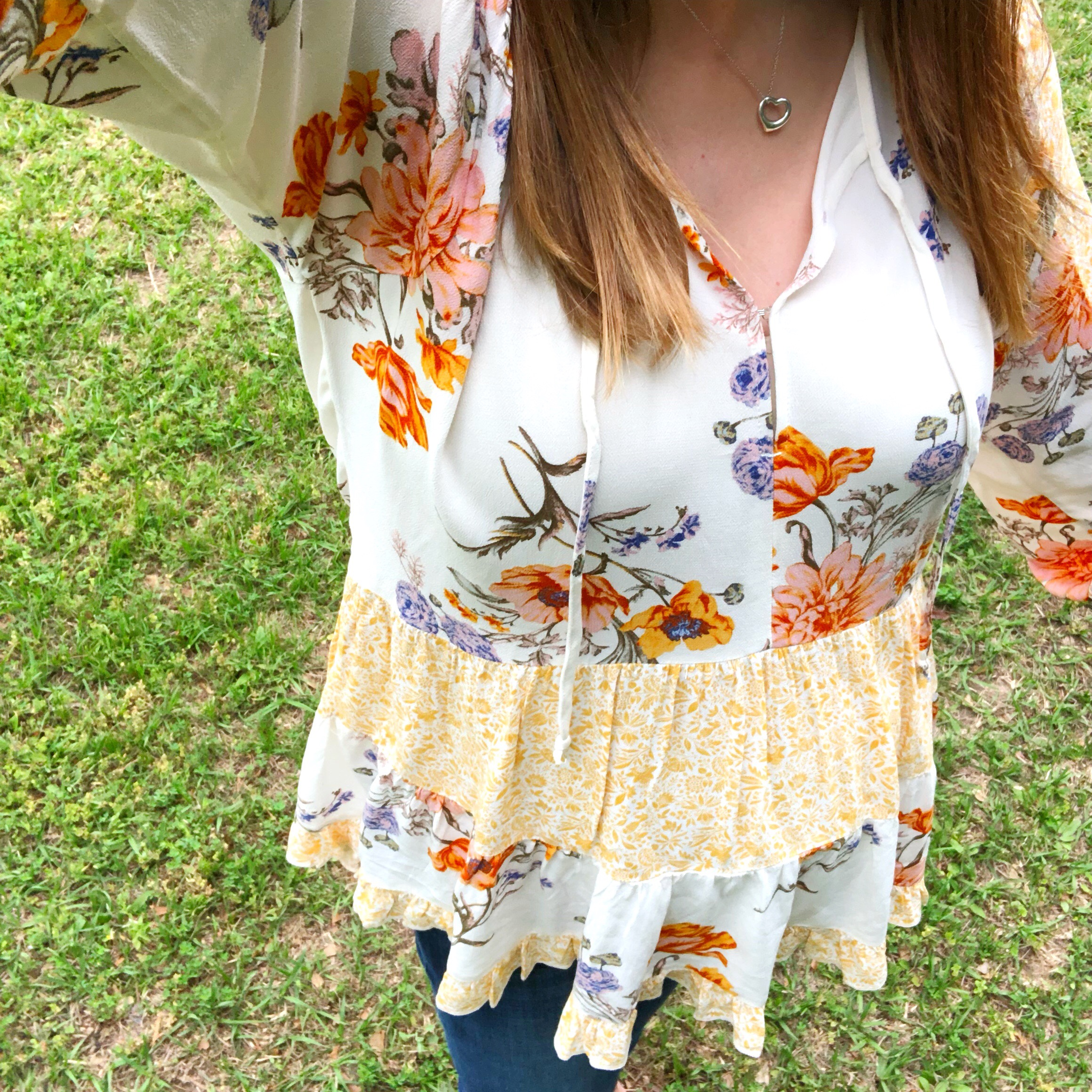 AE Long Sleeve Print Mix Tunic